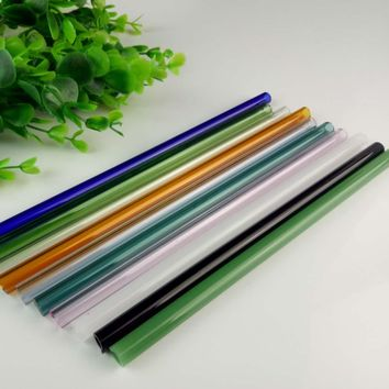 1pc Handmade Healthy Glass Straw ECO-friendly Household Glass Straight Pipet Tubularis Snore Piece Tube