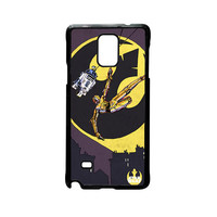 R2D2 And C3PO Fly Star Wars For Samsung Galaxy Note 2/Note 3/Note 4/Note 5/Note Edge Phone case ZG