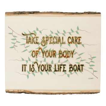 Life-Boat Quote by Kat Worth Wood Panel