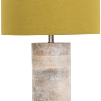 Arbor Contemporary Table Lamp Natural Finish Green