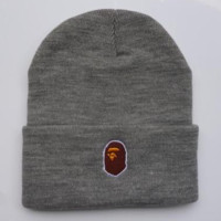 Bape Women Men Embroidery Knit Hat Beanie Cap Hat