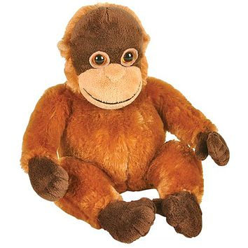 "8"" Orangutan Stuffed Animal Plush Floppy Zoo Species Collection"
