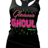"""Women's """"Glamour Ghoul"""" Tank by Pinky Star (Black)"""