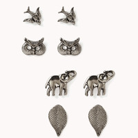 Feather, Owl, Elephant & Bird Earring Set