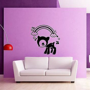 Wall Stickers Vinyl Decal Fawn Deer Baby Animal for Kids Room Nursery Unique Gift (ig943)