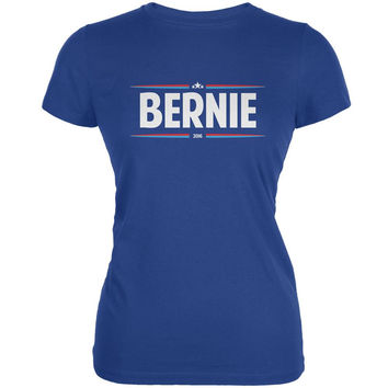 Election 2016 - Bernie Thin Stripes Royal Juniors Soft T-Shirt