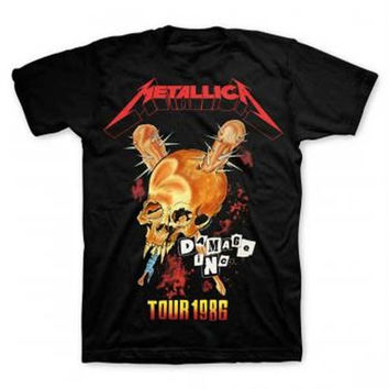 Metallica Tour '86 T-Shirt - Black - Medium