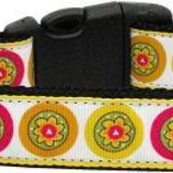 Autumn Daisies Dog Collar Medium