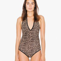 Printed Cotton Spandex Halter Bodysuit | American Apparel