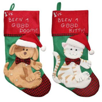 Dyno 1196758-1CC Felt Classic Pet Christmas Stocking, Assorted Styles, 19""