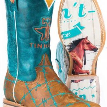 Women's BootsTin Haul Tan Barbed Wire