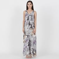 Watercolor Floral Gown