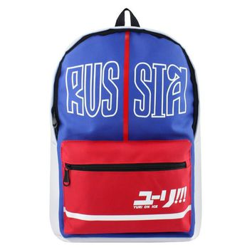 Anime YURI on ICE School Backpack For Teenage Girls Boys Children School Bags Women Men Travel Bag Casual Backpack