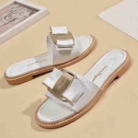 Fendi New fashion women slippers sandals shoes White