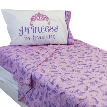 Disney Sofia the First Twin Sheets Princess Scrolls Bedding