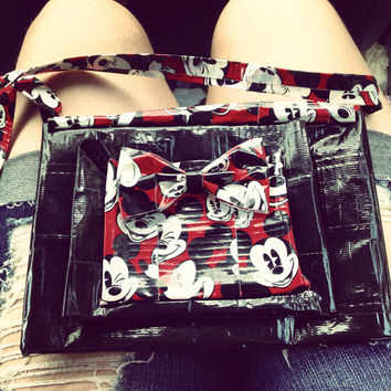 Duck tape Mickey mouse purse/hipster  by BrookeHyland345 on Etsy