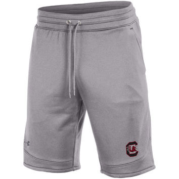 South Carolina Gamecocks Under Armour Tech Terry Shorts - Heathered Gray
