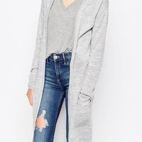 Vila | Vila Long Lined Cardigan With Front Pockets at ASOS