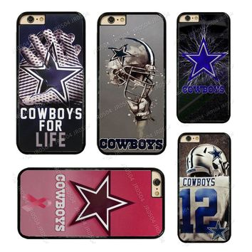 Dallas Cowboys Football PC+TPU Edge Phone Case Cover For iphone X 5 5s SE 6 6s 6 plus 6s plus 7 7 8 8plus #T0014