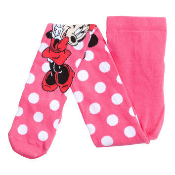 H&M - Patterned Tights - Cerise/Minnie mouse - Kids