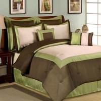 Central Park Luxury 8-pc. Comforter Set (Green)