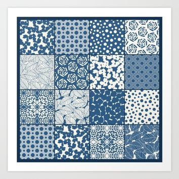 Tile Patchwork Art Print by Eileen Paulino