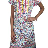 Indian Tunic Top Cotton Printed Womens Long Kurti Dress Caftan