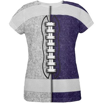 Fantasy Football Team Grey and Navy All Over Womens T Shirt