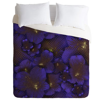 Bel Lefosse Design Electric Blue Orchid Duvet Cover