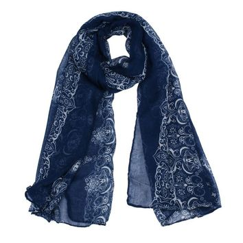 JECKSION luxury brand scarf women 2016 Classical Print Scarf Scarves Sun Protection Gauze Kerchief #LSN