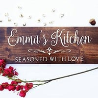 Personalized Wooden Cafe Sign, Beautiful Cafe Bar Sign Personalized and Painted with your name and quote.