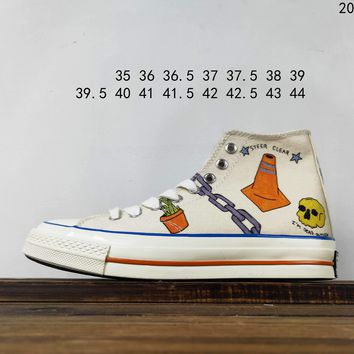Kuyou Fa19630 Tyler The Creator X Converse High Top Canvas Shoes 164531c
