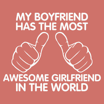 Shirt For Womens Awesome Girlfriend T Girl Boy Shir