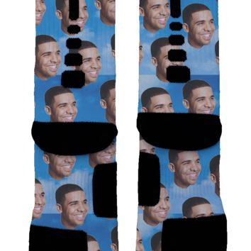 Drizzy Drake Face Custom Nike Elite Socks