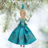 disney store 2015 frozen elsa sketchbook christmas ornament new with tag