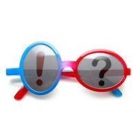 Exclamation Question Mark Punctuation Silly Party Novelty Glasses