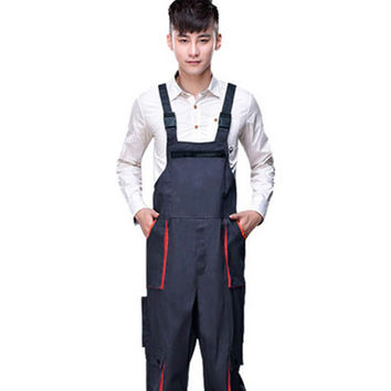 New Arrival Mens Workwear Clothes Sleeveless Cargo Pants Repairman Jumpsuits Suspenders Trousers Man Uniform Overalls