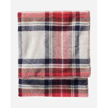 Pendleton - Eco-Wise Wool Solid Vintage Dress Stewart Twin Blanket