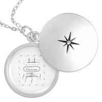 Infinite spirits round locket necklace