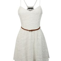 Womens Lightweight Summer Spring Skater Dress