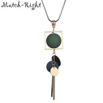 Match-Right Women Necklace Long Necklaces & Pendants Wood Beads Necklace For Women Jewelry YJZ-40
