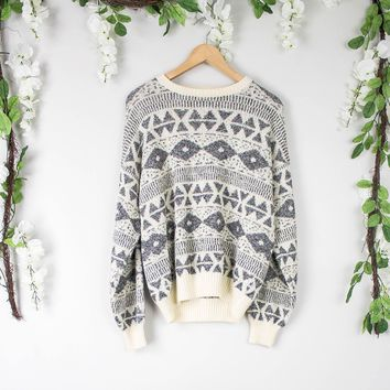 Vintage Gray Aztec Sweater
