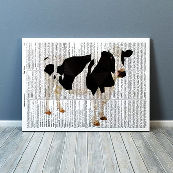 Cow poster Colorful decor Modern art Farm animal print TOA70-1