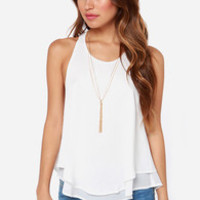 All My Loving Ivory Lace Halter Top