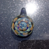 Glass Implosion Pendant Bead ---Majestic Glass Arts---