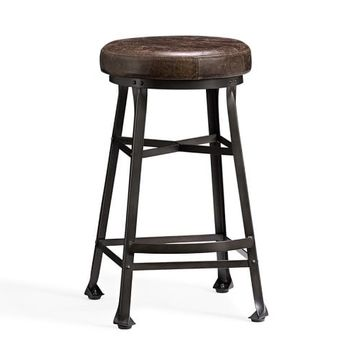 DECKER LEATHER SEAT BARSTOOL