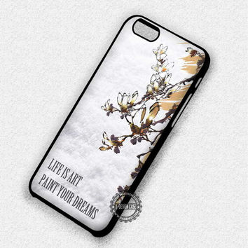 Flower Floral Quote - iPhone 7 Plus 6 SE Cases & Covers