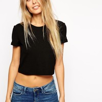 ASOS | ASOS Cropped Easy T-Shirt in Premium Fabric at ASOS