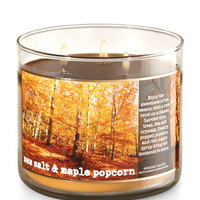 Sea Salt & Maple Popcorn 3-Wick Candle | Bath And Body Works
