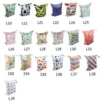 print Baby wet and dry cloth diaper bags L Series